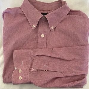 Banana Republic Red Button Up Shirt Size Large